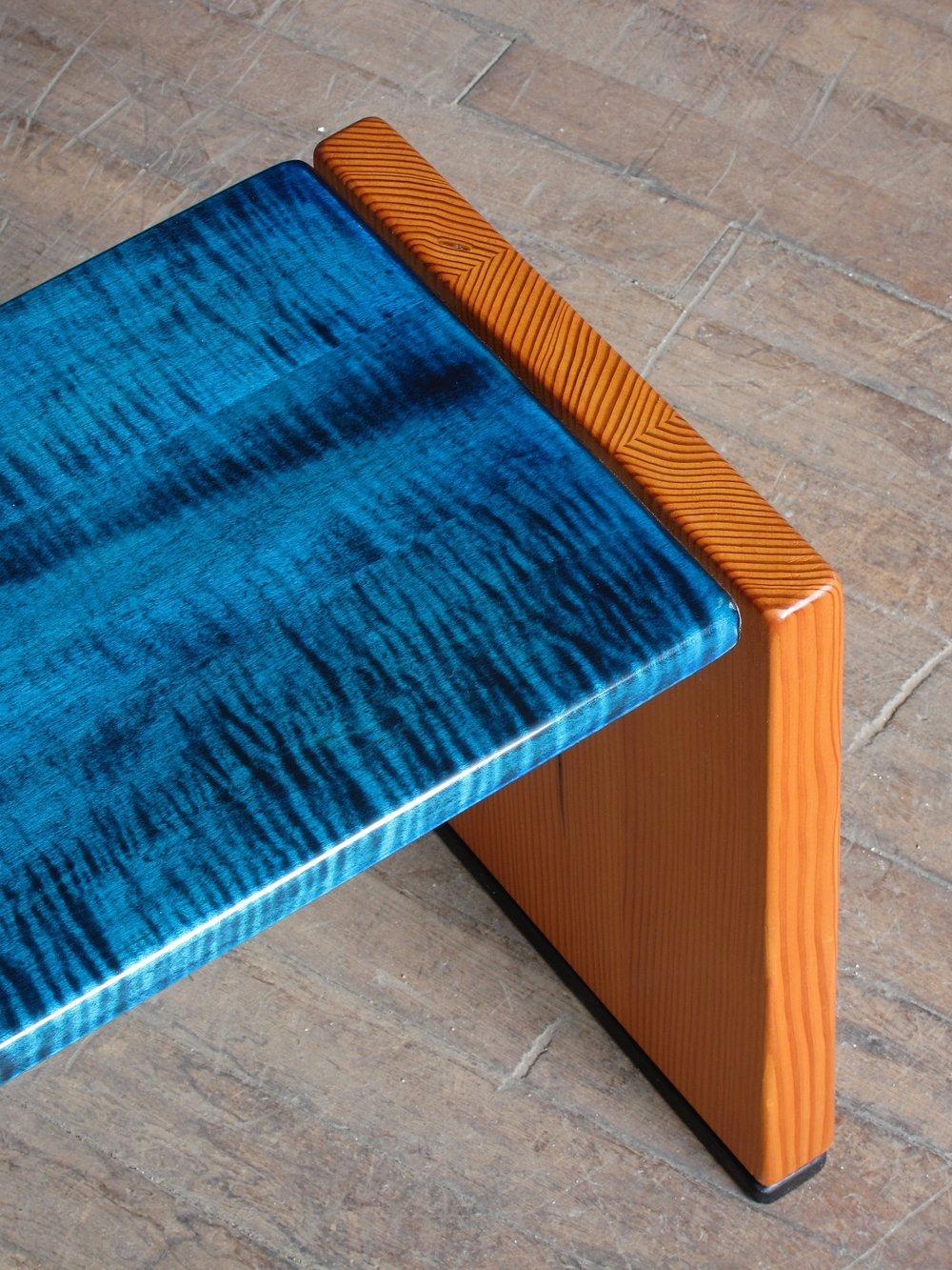 Doug fir& curyly maple bench.jpg