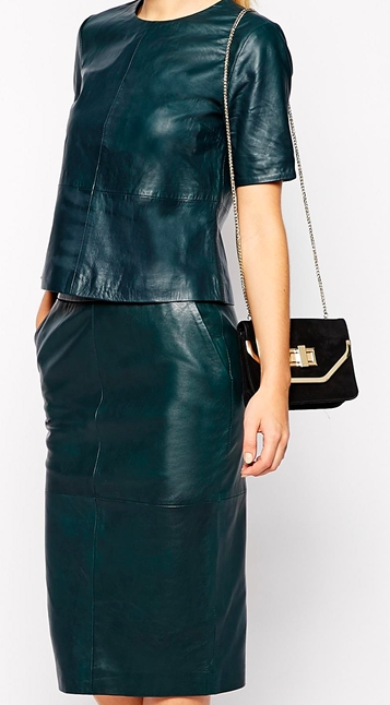 leather top and skirt for petite sizes