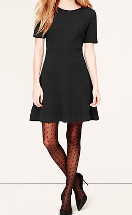 short sleeved black dress for petite sizes
