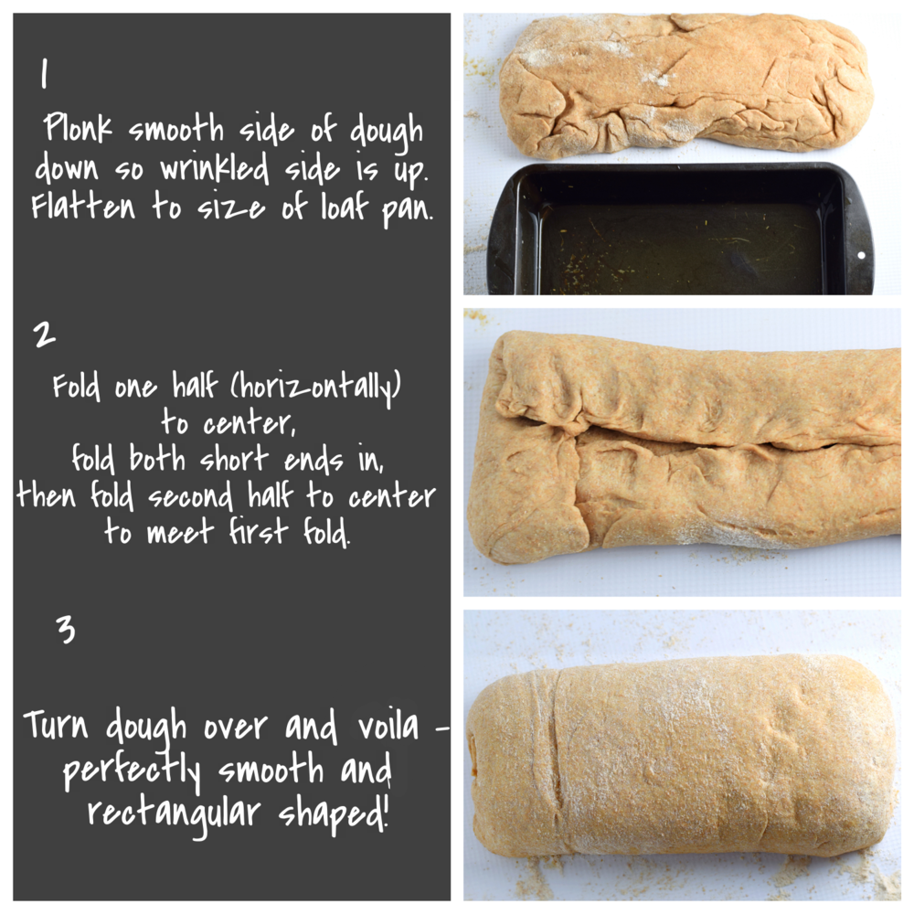how to shape bread into a loaf