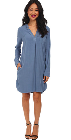 Blue Jersey Shirtdress