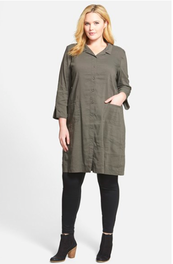 Plus sized shirtdress