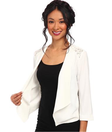 white flowy jacket