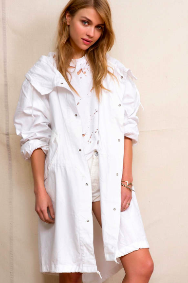 Urban Outfitters White Parka