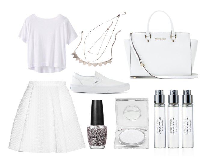 all white outfit collage