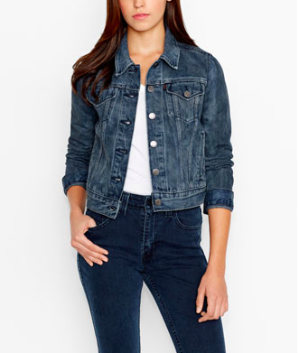 dark denim jacket - Levi's