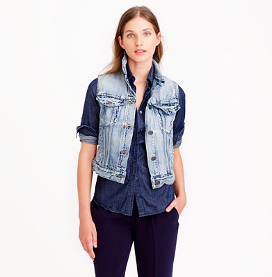 light wash denim vest - J.Crew