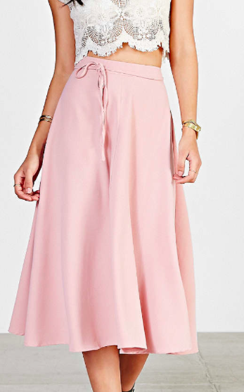 Urban Outfitters pink midi skirt