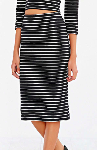 Urban Outfitters striped midi skirt
