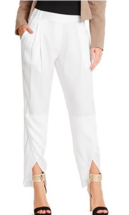 Guess cropped white pants