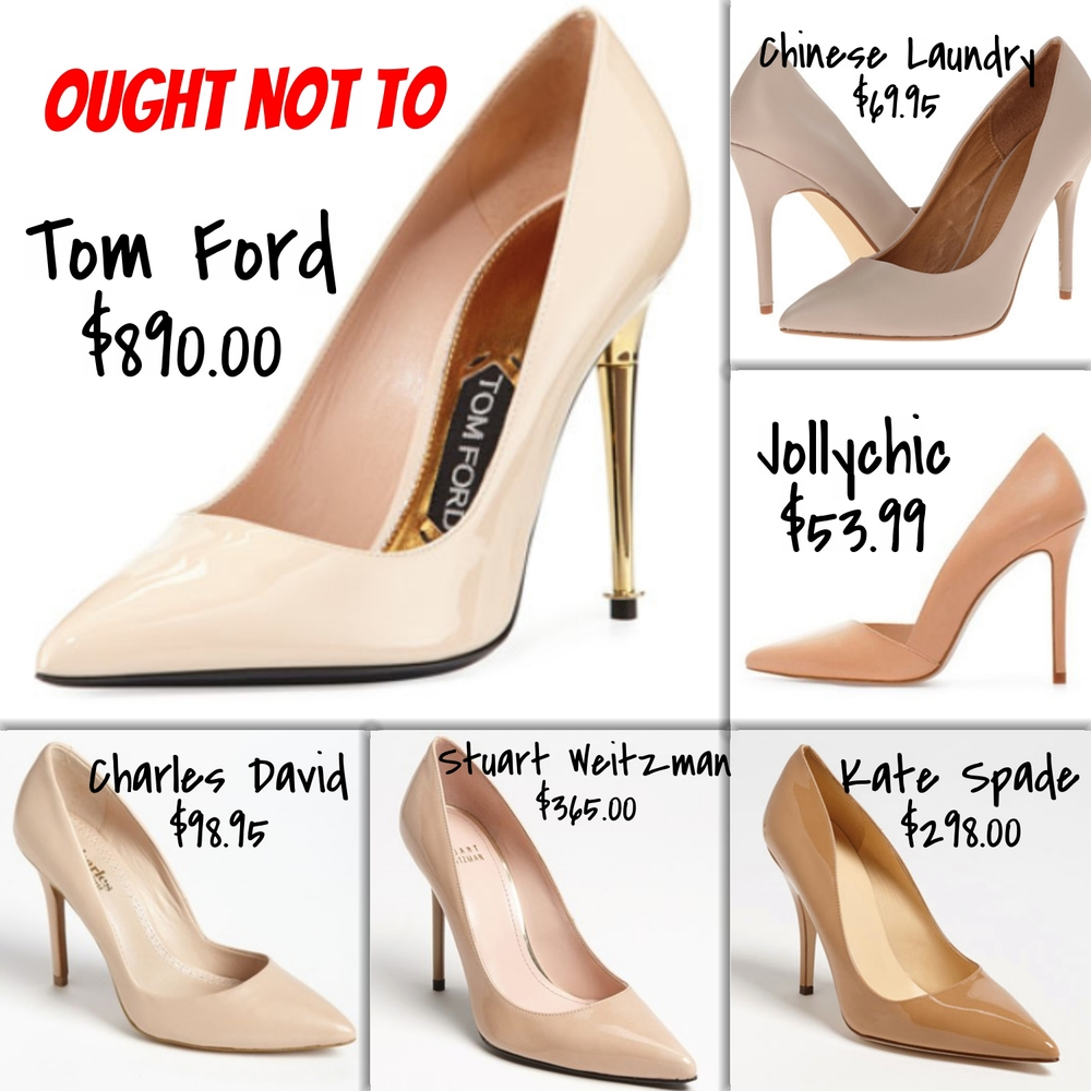 pointed toe nude pumps - expensive and affordable options