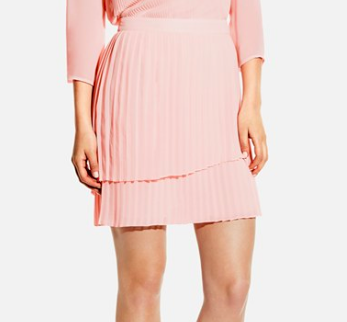 Vince Camuto Pink Pleated Skirt