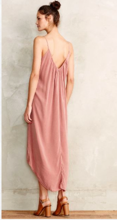 Anthropologie pink slip dress