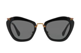 Miu Miu black cat eye sunglasses
