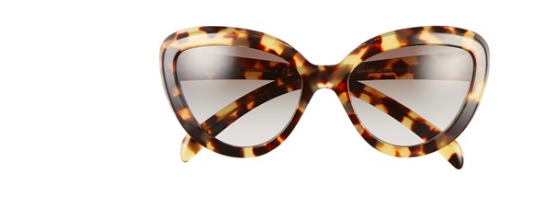 Prada tortoise cat eye sunglasses