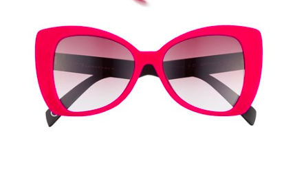 Pink cat eye statement sunglasses