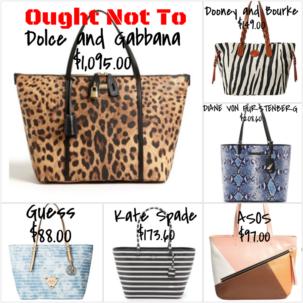 patterned tote bags - expensive and affordable options