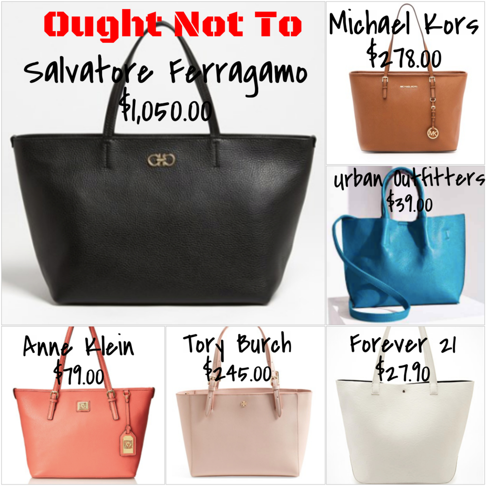 solid colored tote bags - expensive and affordable options