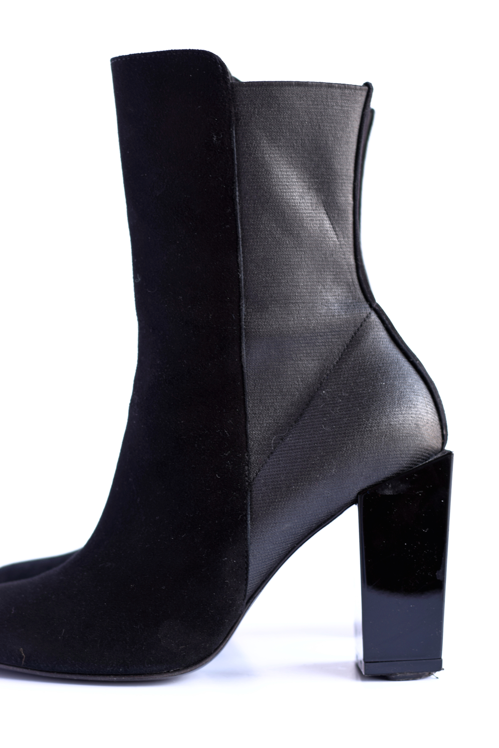 short black heeled boots