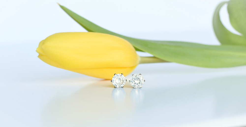 cubic zirconia diamond earrings