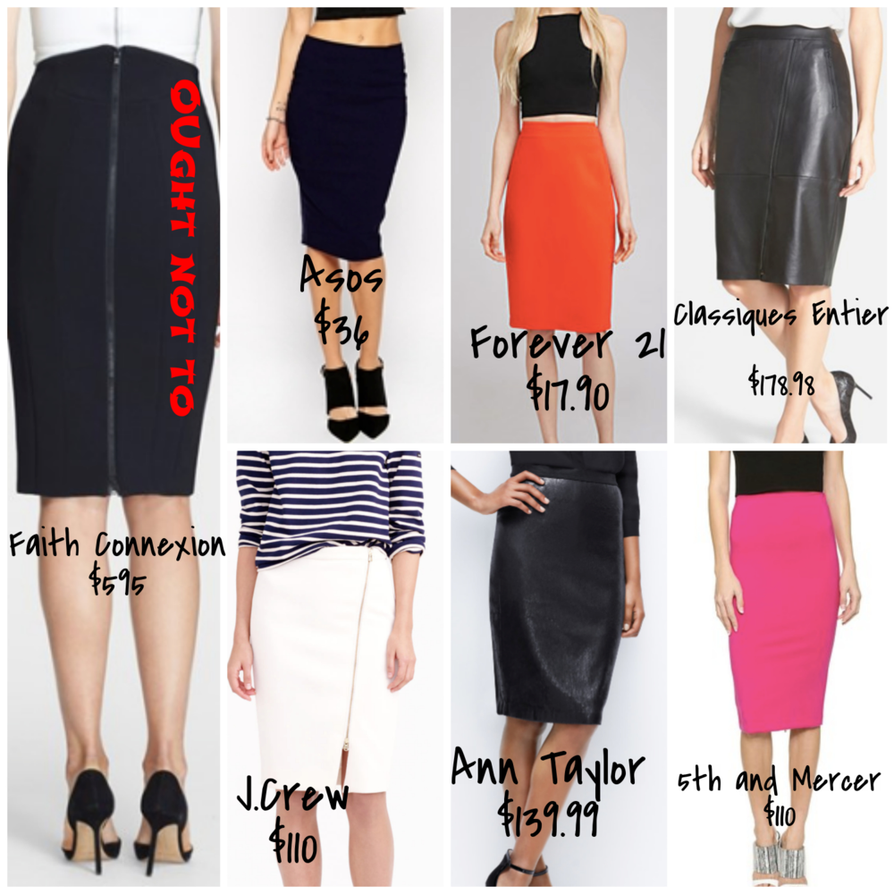 Affordable pencil skirts