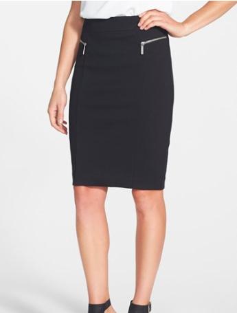 Michael Kors zippered pencil skirt