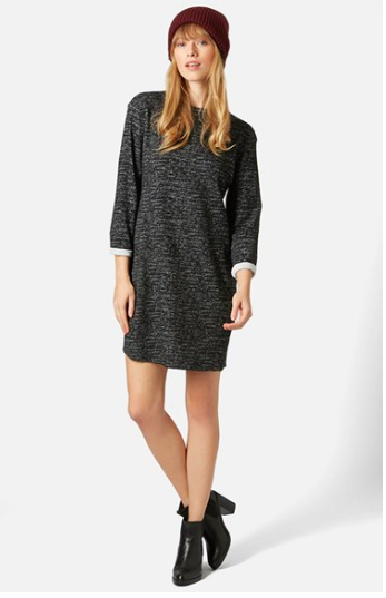 Topshop grey sweater dress