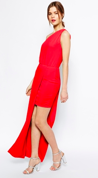 Asos one shoulder dress