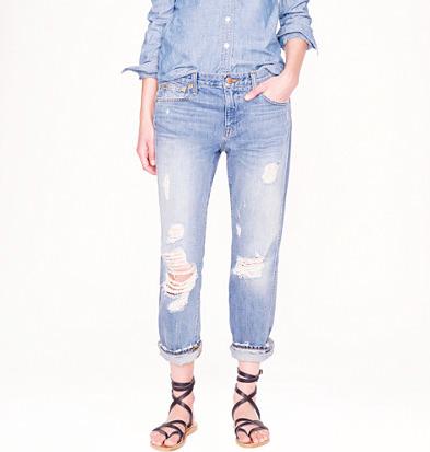 J.Crew distressed jeans