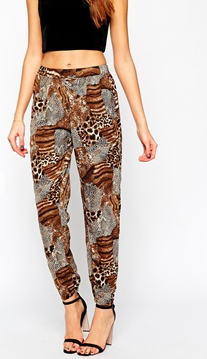 animal print pants ASOS