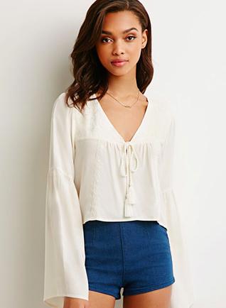Forever 21 bell sleeve blouse