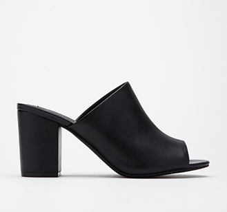 Forever 21 black heeled mules