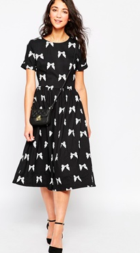Asos Midi Butterfly dress