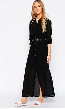 Asos sheer maxi shirtdress