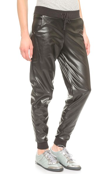 Shopbop Faux Leather Sweatpants