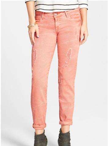 Nordstrom pink boyfriend jeans