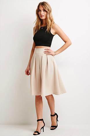 Forever 21 Pink Midi Skirt
