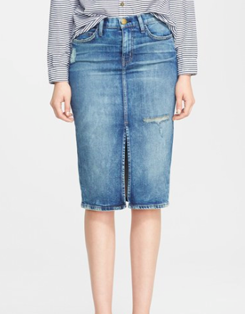 Nordstrom knee length denim skirt