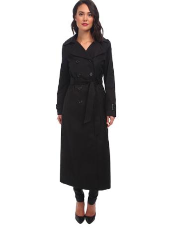 extra long black trench coat DKNY
