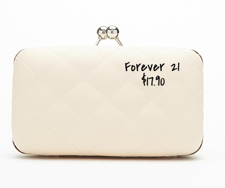 Forever 21 quilted box clutch