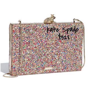 Kate Spade sparkle box clutch