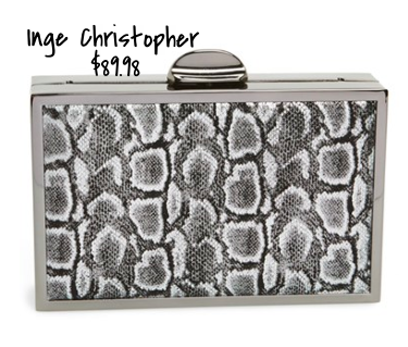 Inge Christopher leopard box clutch