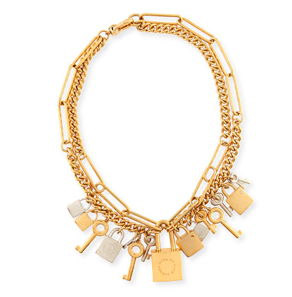 MARC by Marc Jacobs lock and key necklace