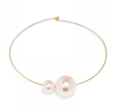 Pearl collar choker necklace