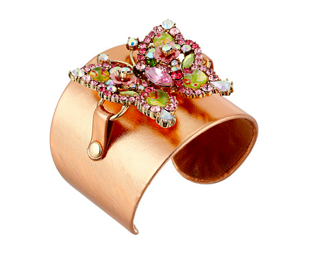 Betsey Johnson rose gold cuff