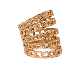 Forever 21 stacked chain ring