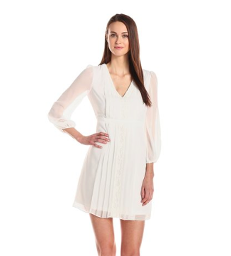 white chiffon lace dress