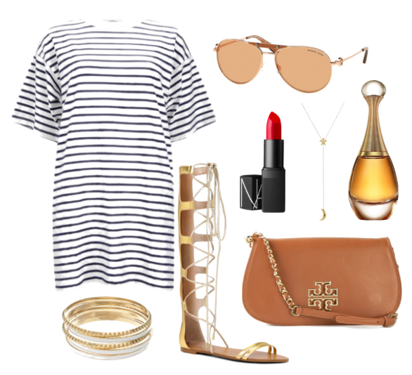striped outfit idea