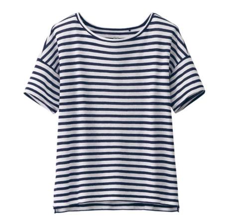 Uniqlo short sleeved stripe tee