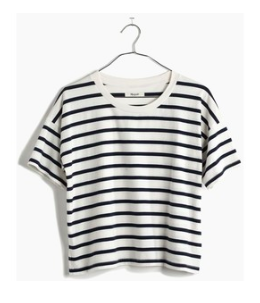 Madewell Cropped Striped Top